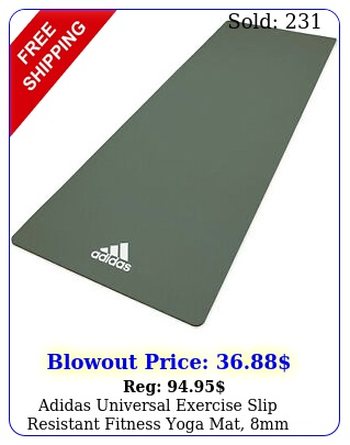 adidas universal exercise slip resistant fitness yoga mat mm thick raw gree