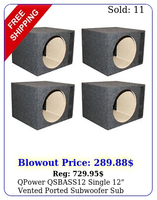 qpower qsbass single vented ported subwoofer sub enclosure pac