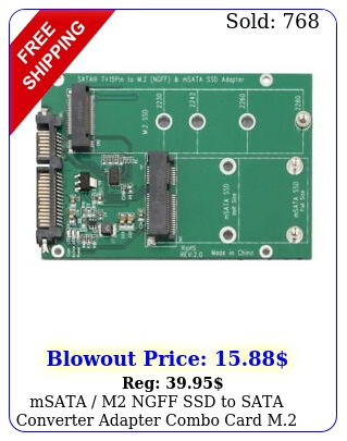msata m ngff ssd to sata converter adapter combo card m i