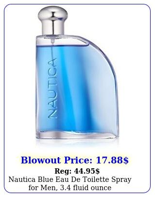 nautica blue eau de toilette spray men fluid ounc