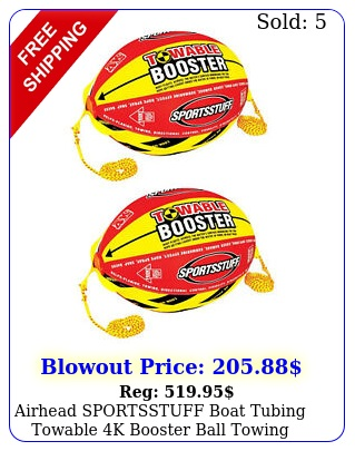 airhead sportsstuff boat tubing towable k booster ball towing system pac