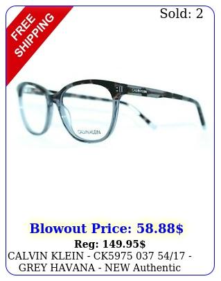 calvin klein ck  grey havana  authentic women eyeglasse