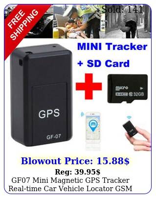 gf mini magnetic gps tracker realtime car vehicle locator gsm gprs gb car