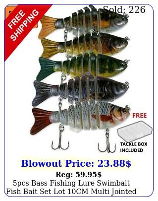 pcs bass fishing lure swimbait fish bait set lot cm multi jointed tackl