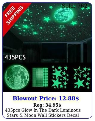pcs glow in the dark luminous stars moon wall stickers decal kid room deco