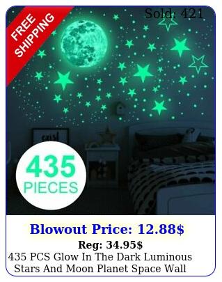 pcs glow in the dark luminous stars moon planet space wall stickers u