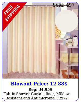 fabric shower curtain liner mildew resistant antimicrobial
