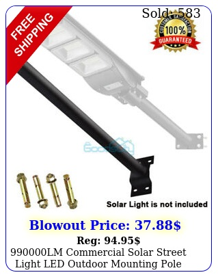lm commercial solar street light led outdoor mounting pole blac
