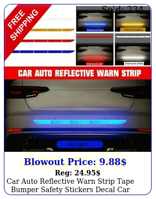 car auto reflective warn strip tape bumper safety stickers decal car accessorie