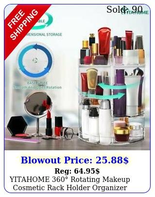 yitahome rotating makeup cosmetic rack holder organizer storage cas