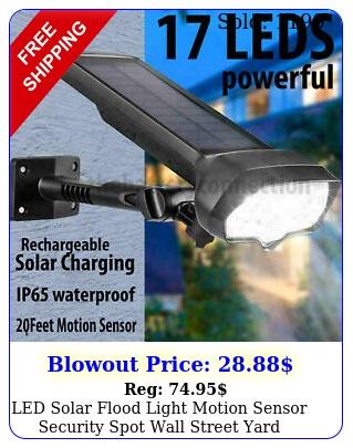 led solar flood light motion sensor security spot wall street yard outdoor lam