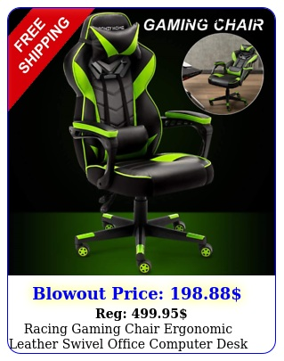 racing gaming chair ergonomic leather swivel office computer desk seat recline
