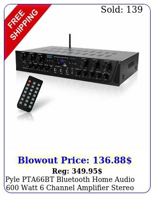 pyle ptabt bluetooth home audio watt channel amplifier stereo receive