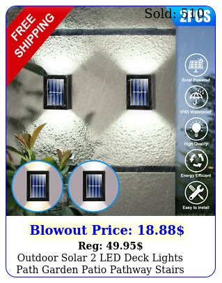outdoor solar led deck lights path garden patio pathway stairs step fence lam