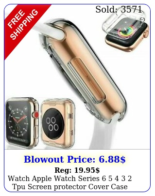 watch apple watch series   tpu screen protector cover case m