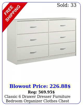 classic drawer dresser furniture bedroom organizer clothes chest drawers whit