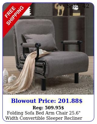 folding sofa bed arm chair width convertible sleeper recliner loung
