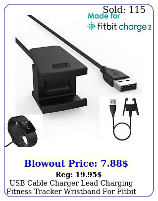 usb cable charger lead charging fitness tracker wristband fitbit charg