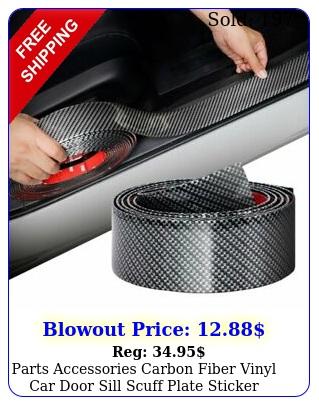parts accessories carbon fiber vinyl car door sill scuff plate sticker protecto