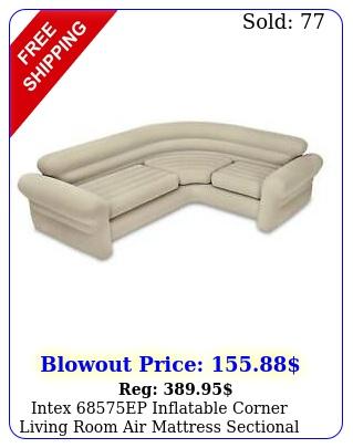 intex ep inflatable corner living room air mattress sectional sofa beig