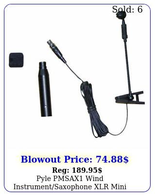 pyle pmsax wind instrumentsaxophone xlr mini cardioid condenser microphon