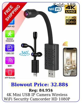 k mini usb ip camera wireless wifi security camcorder hd p cam black smar