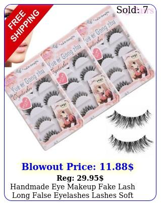 handmade eye makeup fake lash long false eyelashes lashes soft extension pair