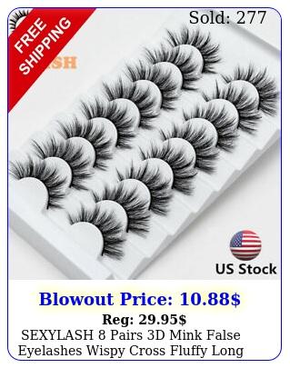 sexylash pairs d mink false eyelashes wispy cross fluffy long eye lashes us