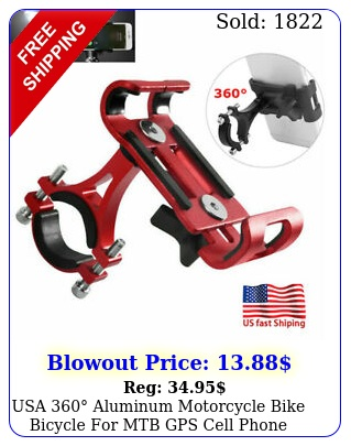 usa aluminum motorcycle bike bicycle mtb gps cell phone holder moun