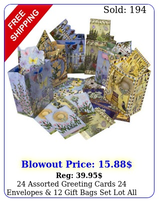 assorted greeting cards envelopes  gift bags set lot all occasion pac