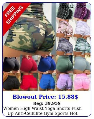 women high waist yoga shorts push up anticellulite gym sports hot pants workou
