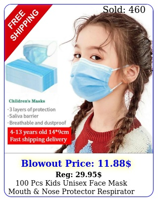 pcs kids unisex face mask mouth nose protector respirator masks usa selle