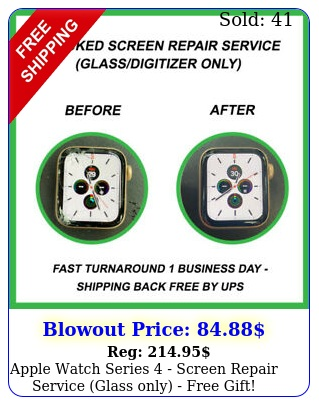 apple watch series  screen repair service glass only free gif