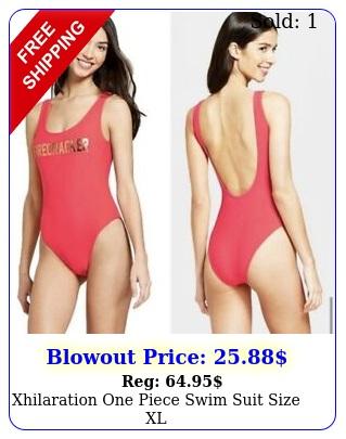xhilaration one piece swim suit size x