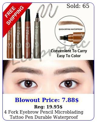 fork eyebrow pencil microblading tattoo pen durable waterproof lasting makeu