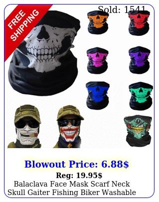 balaclava face mask scarf neck skull gaiter fishing biker washable uv protectio