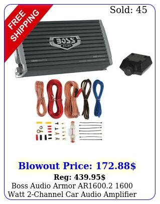 boss audio armor ar watt channel car audio amplifier remote amp ki