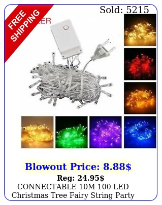 connectable m led christmas tree fairy string party lights lamp x'ma