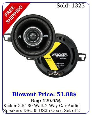 kicker  watt way car audio speakers dsc ds coax set o