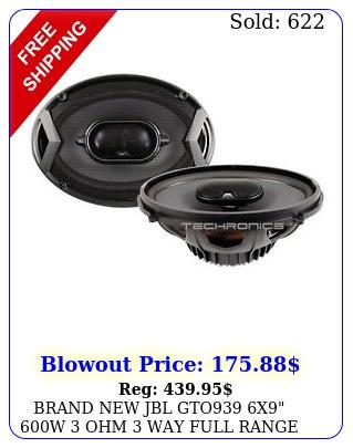 brand jbl gto x w ohm way full range car audio stereo speaker