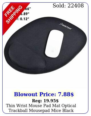 thin wrist mouse pad mat optical trackball mousepad mice black gaming compute