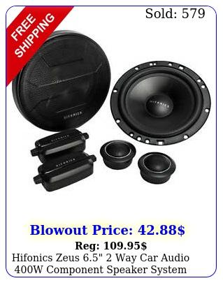 hifonics zeus  way car audio w component speaker system pai