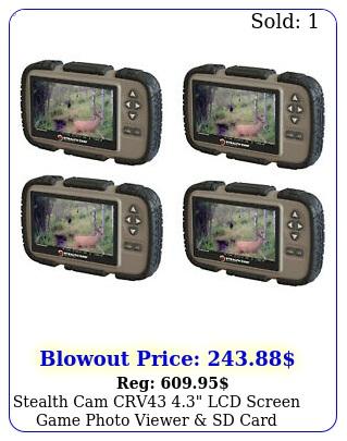stealth cam crv lcd screen game photo viewer sd card reader pac