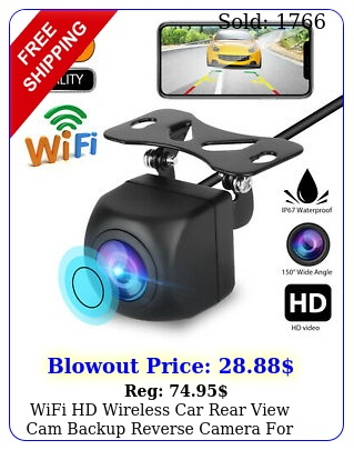 wifi hd wireless car rear view cam backup reverse camera android ios iphon