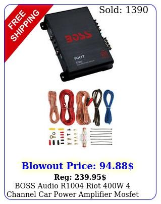 boss audio r riot w channel car power amplifier mosfet w ga amp ki