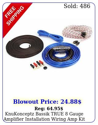 knukonceptz bassik true gauge amplifier installation wiring amp kit cca aw