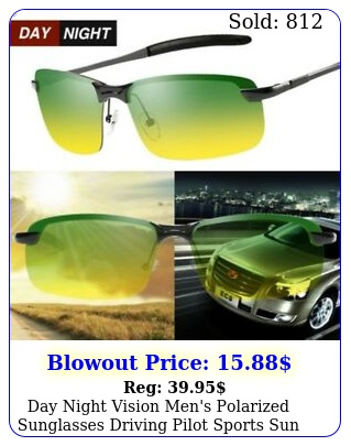 day night vision men's polarized sunglasses driving pilot sports sun glasse
