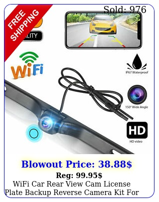 wifi car rear view cam license plate backup reverse camera kit android io