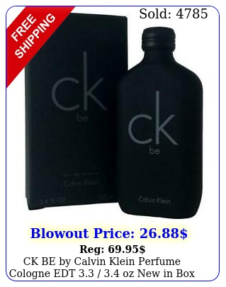 ck be by calvin klein perfume cologne edt  oz in bo