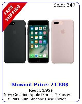 genuine apple iphone plus  plus slim silicone case cover factory seale